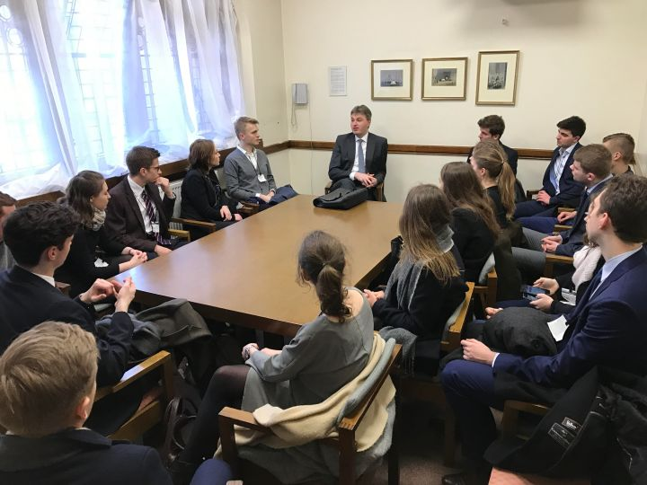 Daniel Kawczynski meets students from the British-Polish Investment Alliance