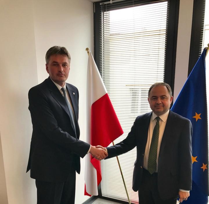 Kawczynski meets Polish Minister for Europe, KonradSzymański